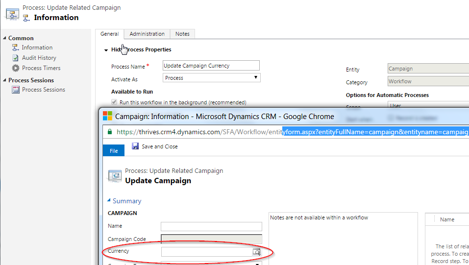 Updating read-only lookup fields in the Dynamics CRM