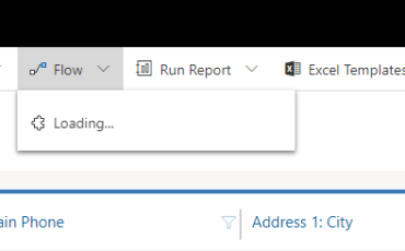 Dynamics 365 flow button stuck on loading