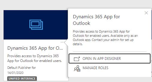 Entity missing from the regarding list App for Outlook - appdesigner