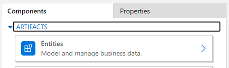 Entity missing from the regarding list App for Outlook - entity artifacts