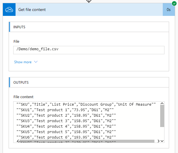 CSV markup response in Power Automate